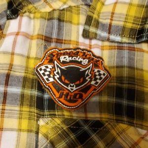 Harley-Davidson Tops - Women's Harley Davidson pearl snap front sz L